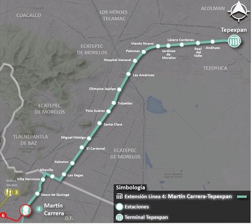 0147 Extension De La Linea 4 Del Metro Martin Carrera Tepexpan